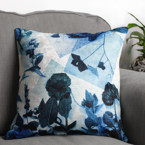 Botanical Photo Collage Cushion