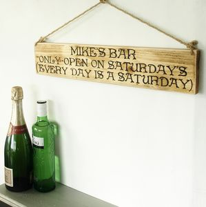 Personalised Bar And Garden Signs - art & decorations