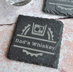 Personalised Whiskey Slate Coaster - summer sale