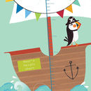 Personalised Puffin Pirate Height Chart