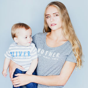 Personalised Mother And Baby T Shirt Set - clothing