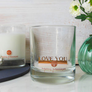 'Love You' Hidden Message Scented Candle - new in home