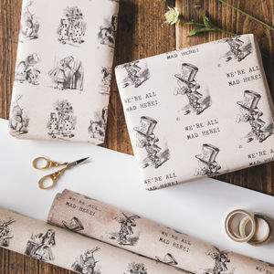 Alice In Wonderland Wrapping Paper Set
