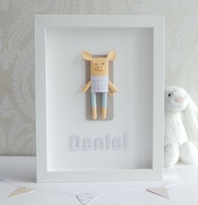 Personalised Framed 3D Paper Pig - children's pictures & paintings