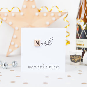 Personalised Milestone Birthday Scrabble Card - shop by category