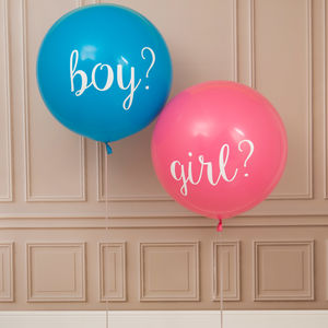 Gender Reveal Party Giant Balloons - announcement and gender reveal ideas