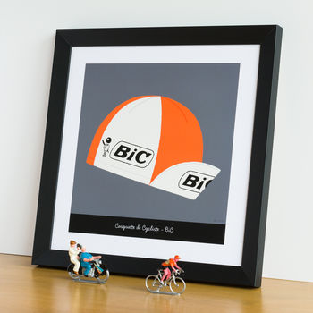 Tour De France Bic Cycling Cap Print