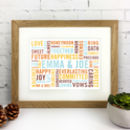 Personalised 'Words About Daddy' Print