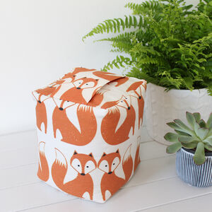 Fox Fabric Animal Print Doorstop