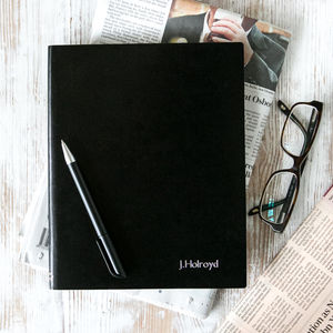 Personalised Leather Journal Notebook In Ten Colours - stationery sale