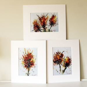 Teasel Prints, The Autumn Set - paintings