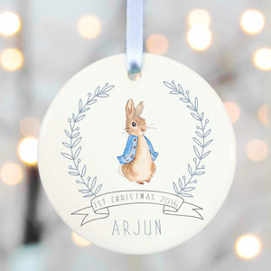 Personalised First Christmas Tree Decorations - baby's first christmas
