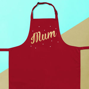 Personalised Mum Sparkly Apron - kitchen linen
