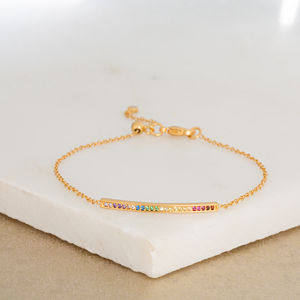 Slider Clasp Skinny Bar Bracelet - party wear & accessories