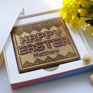 Personalised Happy Easter Chocolate Card - what's new