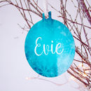 Frozen Snowflakes Christmas Decoration Personalised