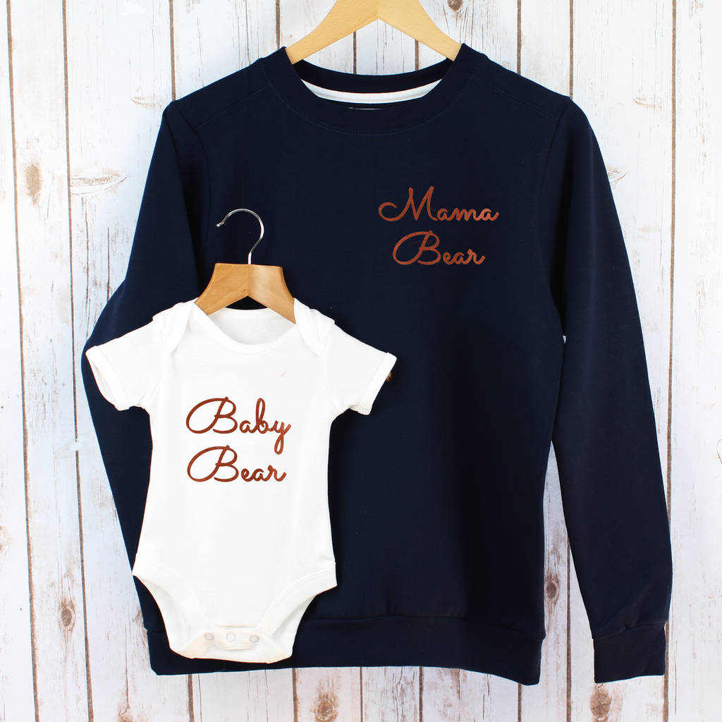 Mama Bear And Baby Bear Sweatshirt Set