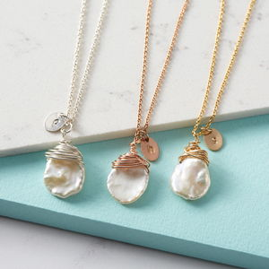 Personalised Keishi Pearl Necklace - wedding necklaces