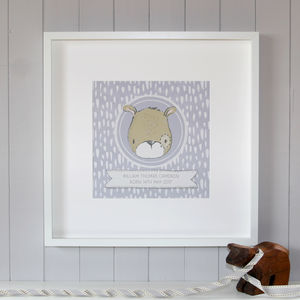 Personalised New Baby Bear Print - new in baby & child