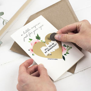 Will You Be My Maid Of Honour Cards And Gifts Notonthehighstreetcom