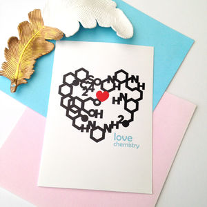 Geometric Love Chemistry Card