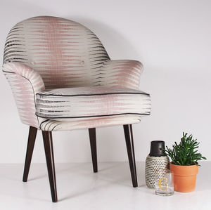 The New Beck Chair In Alana Chalk Pink And Steel