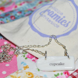 'Cupcake' Porcelain Charm Necklace - necklaces & pendants