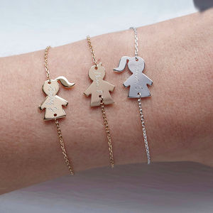 Personalised People Chain Bracelet - gifts for her