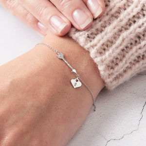Personalised Diamond Arrow Bracelet - bracelets & bangles