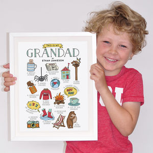 This Is My Grandad Personalised Print - gifts for him