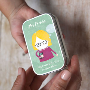 Personalised Teacher Character Keepsake Tin