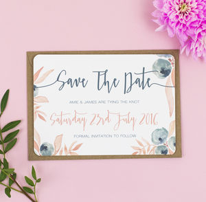 Berry Blush Wedding Save The Date - save the date cards