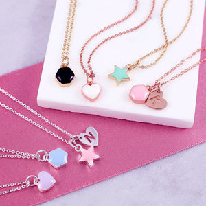 Personalised Cute Enamel Shape Necklace - necklaces & pendants