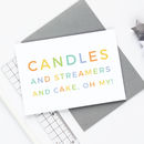 Candles And Streamers Birthday Card