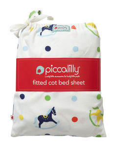 Fitted Cot Sheet In Bag Rocking Horses