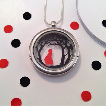 Red Riding Hood Papercut Pendant