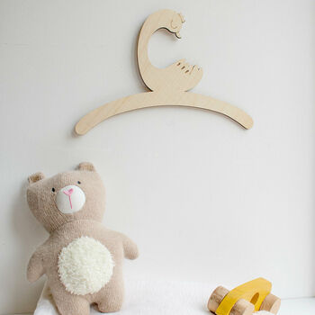 Personalised Childrens Coat Hanger With Duck Design