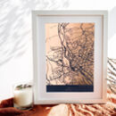 Personalised Foiled Map Print
