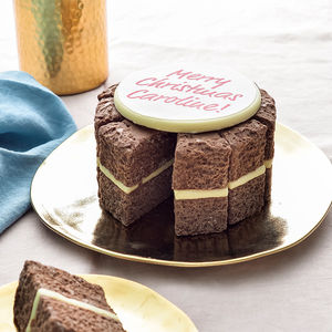 Personalised Solid Milk Chocolate Cake - festive favourites