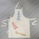 Personalised Bikes Apron Set