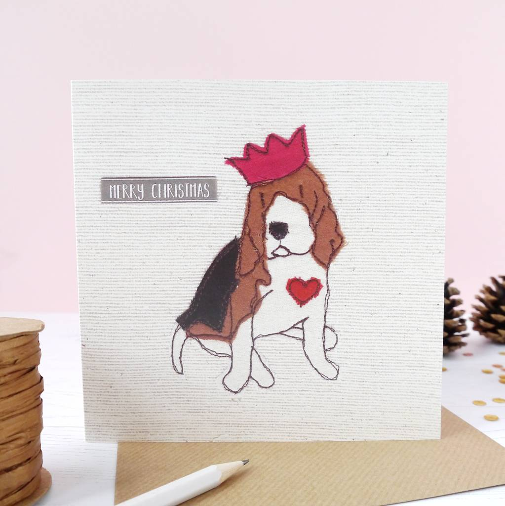 cute beagle dog christmas cards by ren and thread ...