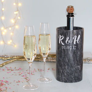 Marble Wine Cooler With Monogram
