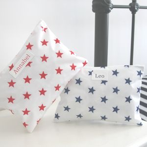 Star Personalised Overnight Washbag - wash & toiletry bags