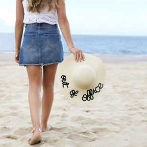 'Out Of Office' Straw Hat