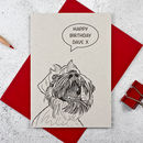 Laughing Dog Personalised Birthday Card