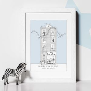 Personalised 'The Dream Shop' Boys Print