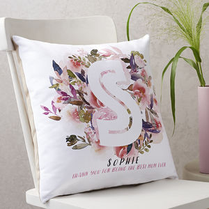 Personalised Flower Bouquet Cushion
