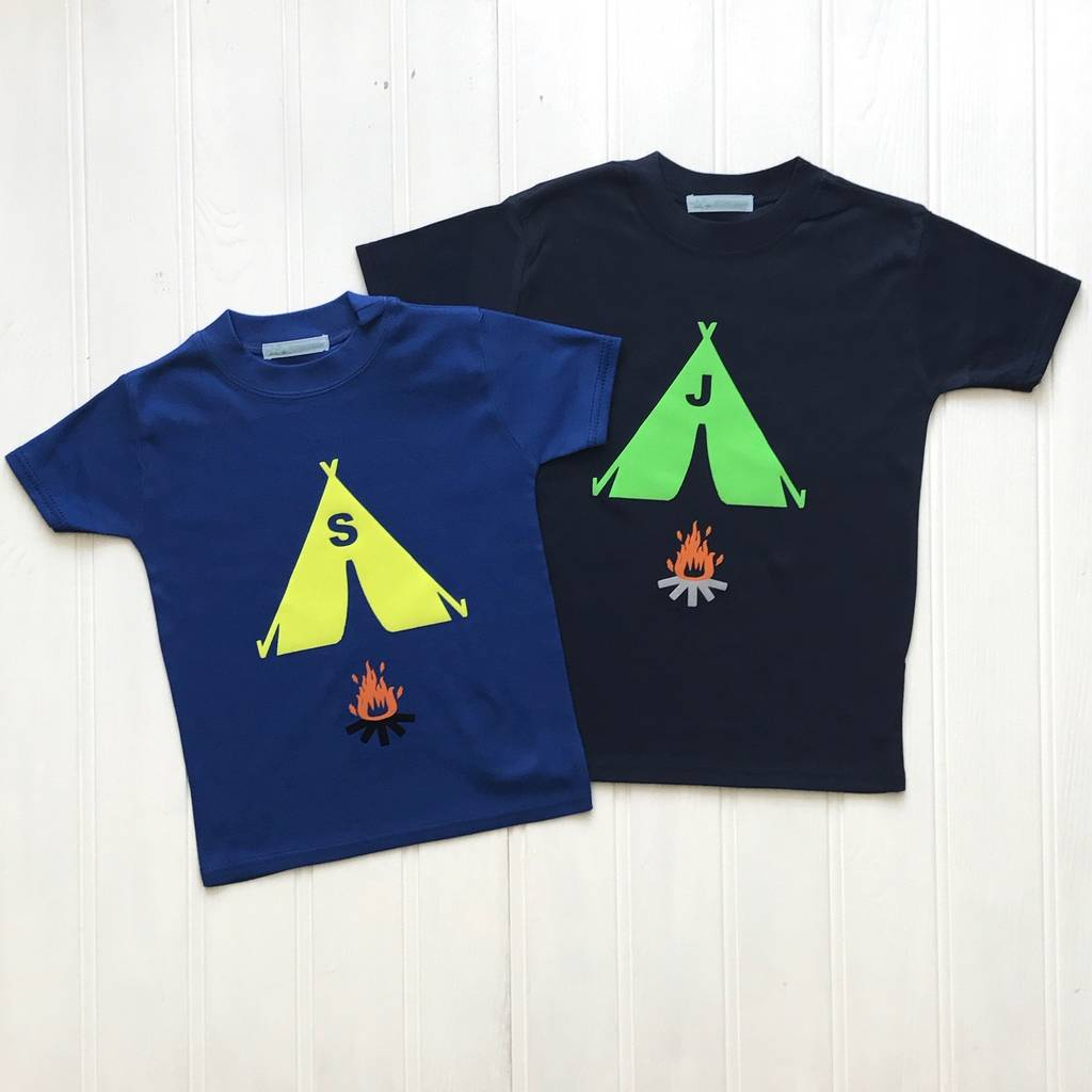 Personalised Camping T Shirt