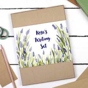 Personalised Lavender Forest Writing Set - winter sale