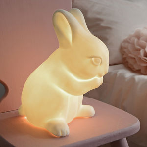 Porcelain Rabbit Lamp - children's lighting